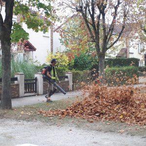 Soufflage, feuilles, entretien, Green Hand co,GHC, création espaces verts, entretien espaces verts, travaux de plantation, aménagement jardin, réaménagement jardin