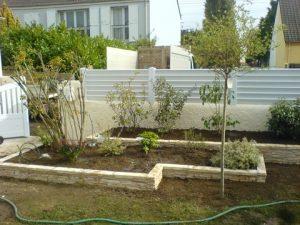 Muret en pierre, réaménagement du jardin