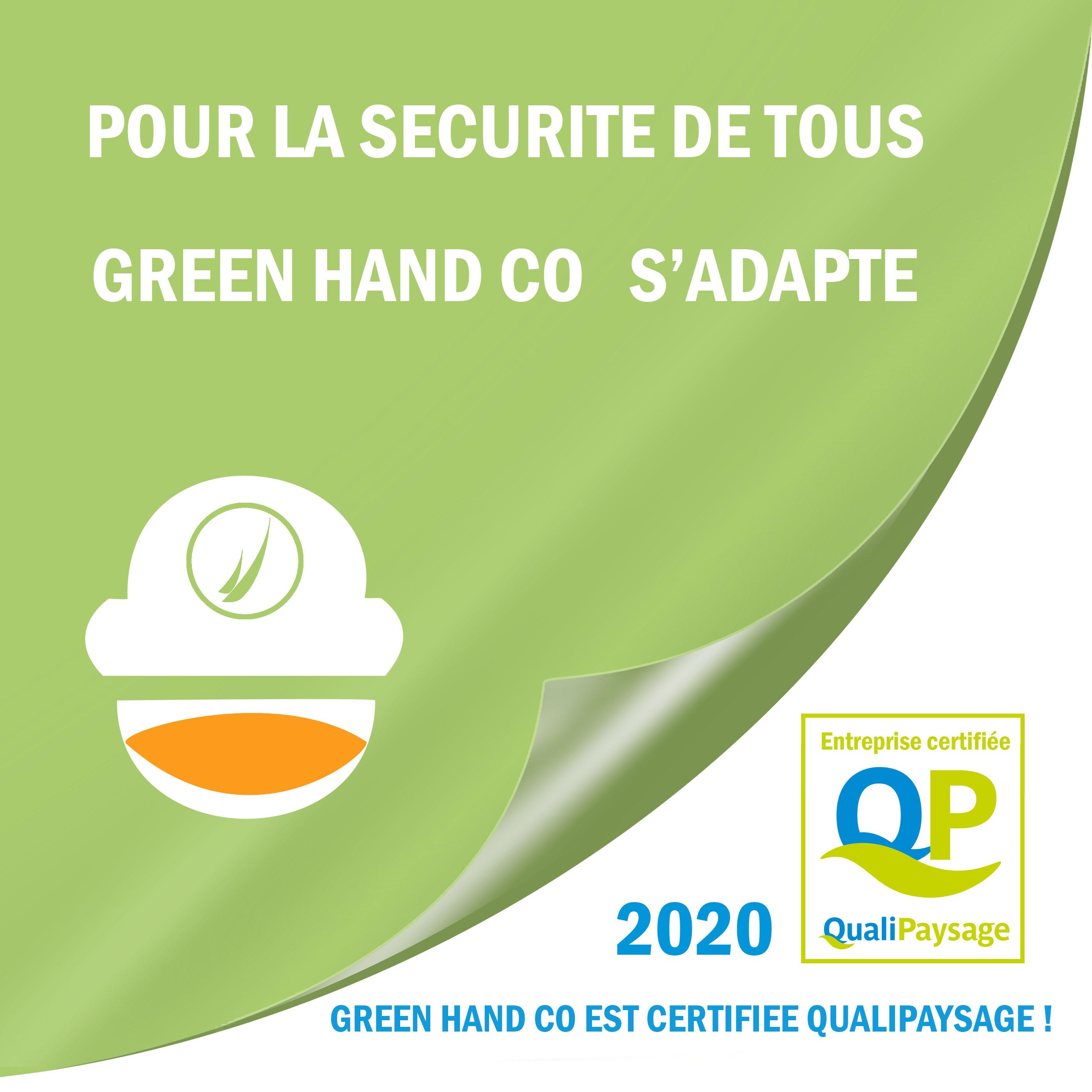 Green hand co, qualipaysage, qualité, certification, création et entretien jardin et paysage, clôtures, terrasse, réaménagement, conception, aménagement